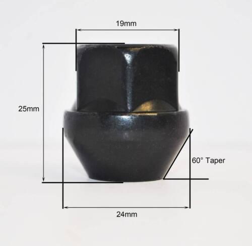 Espiga de M12 X 1.5 90mm Kit de conversión para coches de día de pista Negro