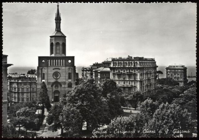 tarjeta postal GÉNOVA carignano y de la iglesia de s.giacomo