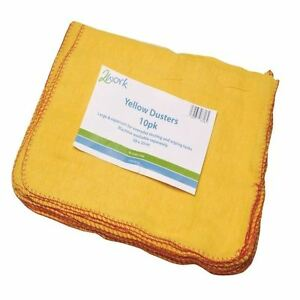 2Work Yellow Duster 508 x 355mm Pack of 10 103088 [CPD70014]