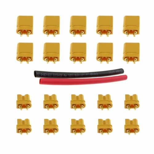 10 Pairs Amass XT30 Male Female Connector Plug with Heat Shrink for RC USA