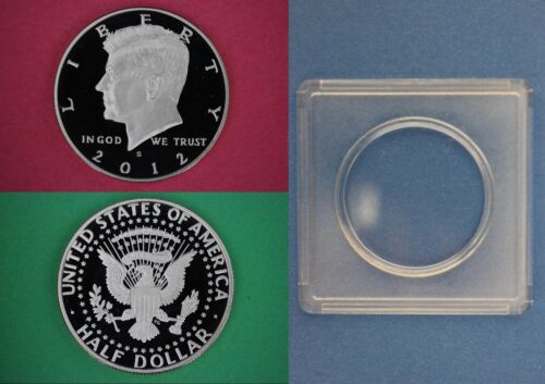 SILVER 2012 S Proof John Kennedy Half Dollar With 2x2 Snap Combined Shipping