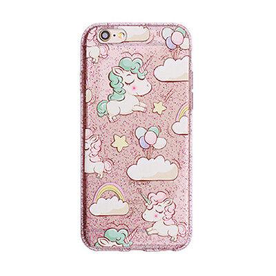 Unicornio Nube Estrella Parachoques Caso para iPhone 7 7 Plus 6 6S más