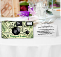 20 Money Disposable Cameras-personalize-wedding Camera/anniversary
