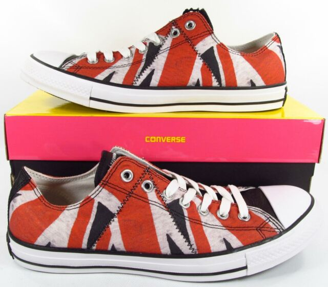 great deals 2017 available shop best sellers Converse x Sex Pistols Chuck Taylor All Ox Star Distressed UK Flag Anarchy  RARE!