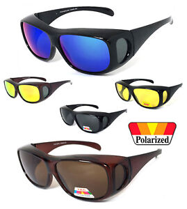 1-or-2-Pairs-FIT-OVER-Sunglasses-Polarized-Lens-Cover-Rx-Glasses-UV-Protect