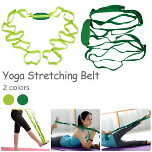 Multi-use-Stretch-Out-Strap-Exercise-Booklet-Gym-Fitness-Yoga-Resistance-Trainer