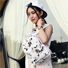 Women Floral Printed PU Leather School Bookbag Travel Shoulders Bag Backpack F5