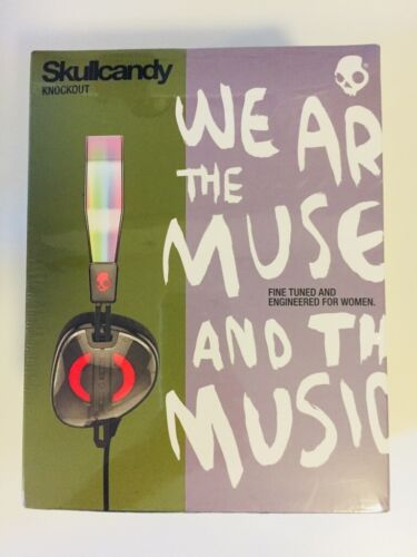Skullcandy Knockout w/ Bag On Ear Headphones with Mic & Remote - BRAND NEW BOXED