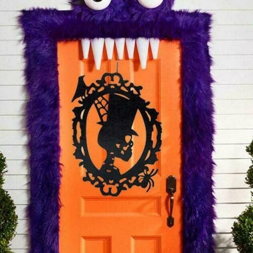 Halloween Hanging Decor Non-woven House Witch Skull Witch Party Scary Suppl W4L1