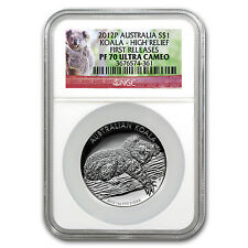 2012 Australia 1 oz Silver High Relief Koala PF-70 NGC - SKU #96144