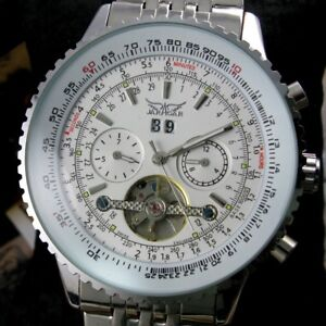 Men-039-s-Automatic-Mechanical-Tourbillon-Date-Stainless-Steel-Wrist-Luxury-Watch