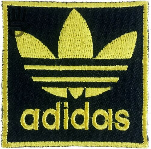 EMBROIDERED ADIDAS LOGO Biker Sports Logo multiple colors Iron Sew badges patch