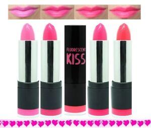 Image Is Loading Neon Pink Lipsticks All 4 Shades Bubblegum Barbie