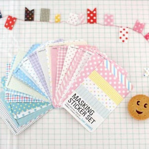 27-pcs-Washi-Masking-Tape-Craft-Stickers-Pack-Decorative-Labelling-Scrapbooking