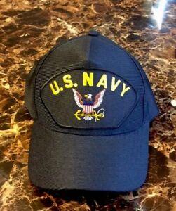 25ba71ea830 Image is loading US-Navy-Military-Veteran-Hat-Eagle-Crest-Ball-