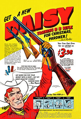 """As Seen In  /""""A Christmas Story/"""" 1953 Red Ryder Daisy BB Carbine Rifle Poster"""