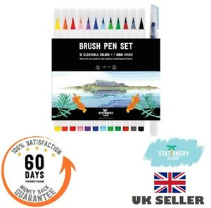Stationery-Island-Brush-Pens-Watercolour-Pens-12-Pack-1-Aqua-Brush-or-Seasons