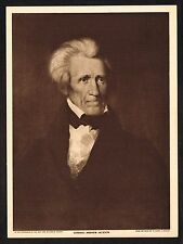 1910's Old Vintage General Andrew Jackson by Asher Durand Art Photogravure Print