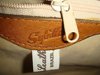 Sybilla Leder Henkeltasche Handtasche, Made in Brazil