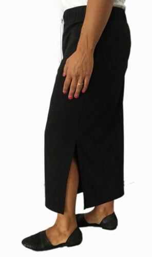 Avec Calaluna Fabriquᄄᆭ Femme Longue Jupe Taillelastique Noire Italie zVSMpqU
