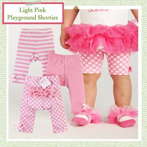 NEW Mud Pie 3 Pc Set PLAYGROUND SHORTIES Size 2T Dots Stripe /& Solid Baby Girl