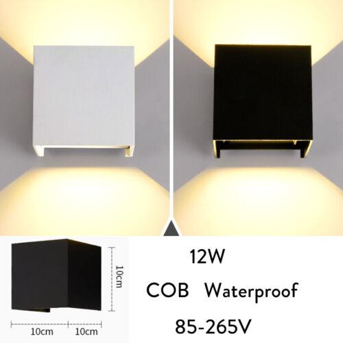 Waterproof Modern Up Down Lighting LED Wall Light Sconce Lamp 6W 12W 220V RC954