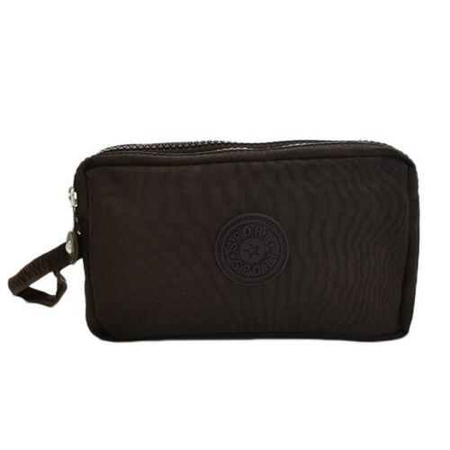 2018 Damen Geldbörse Tasche Triple Zipper Clutch Bag Handyhülle Organizer PD