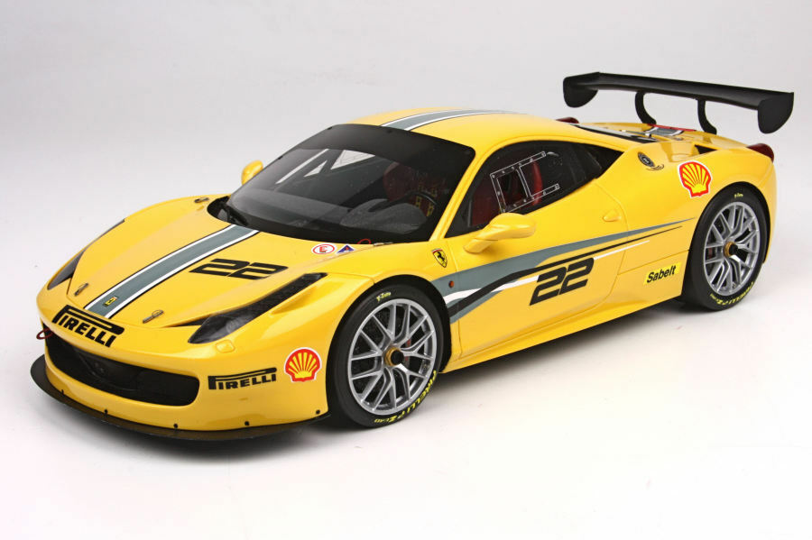 BBR P1890 - Ferrari 458 Challenge Evoluzione jaune 2011  1 18