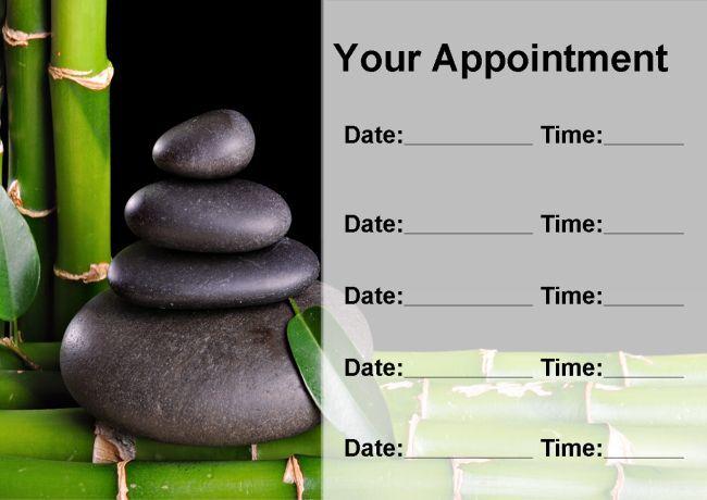 Salon de beauté traiteHommes t Massage Massage t Spa personnalisé noir carte de rendez-vous 37f0d1