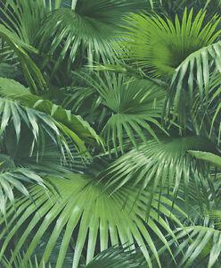 EUR-2-15-qm-Tapete-Rasch-Crispy-Paper-524901-Blaetter-Palmen-Dschungel