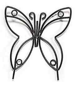 Large Wrought Iron Butterfly Garden Stake - Amish Handmade Lawn ...