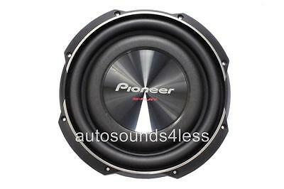"""Pioneer TS-SW2502S4 1200 Watts 10"""" Single 4 Ohm Shallow Mount Truck Subwoofer"""