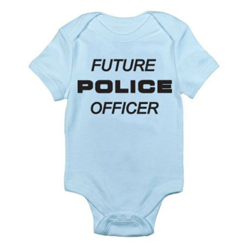 Emergency Novelty Themed Baby Grow Humorous FUTURE POLICE OFFICER Suit