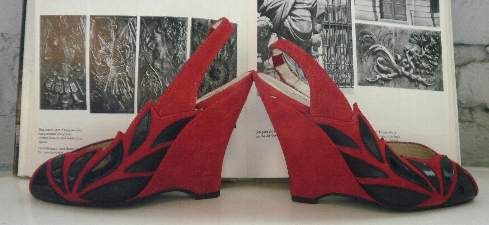 Maren´b Juan Shoe Damen Wedges made spain TRUE VINTAGE Pumps Schuhe Keilschuhe