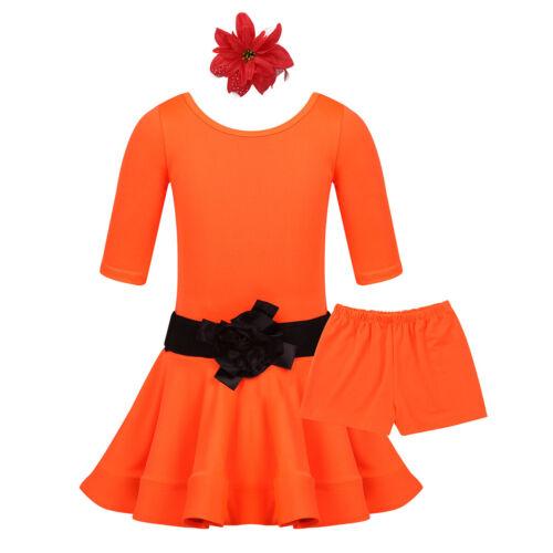 KIDS GIRLS LATIN RUMBA SAMBA SALSA CHA CHA BALLROOM TANGO DANCE DRESS COSTUME