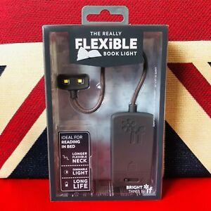 The Really Flexible Book Light - Grey. Brand New for 2018. Extra Long Flexi Neck 5035393398019