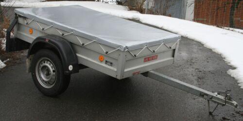 PROFI-Qualität bis 2,20 m Anhängerplane Hellblau Bayerwald Flachplane