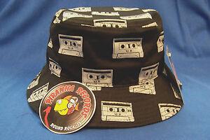 Gray Cassette Printed Black Full-Brim Bucket Hat ONE SIZE Piranha ... 08d182151306