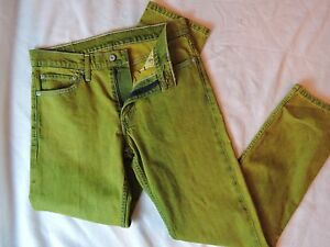 31 Levis rare Jeans 32 lavé vert Factory échantillon super citron citron vndTOnAqZ