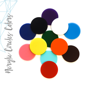 25 acrylic circle discs blanks 1 8 thick select size color