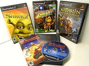 Lot-of-4-PS2-The-Incredibles-Goblin-Commander-Zapper-One-wicked-Cricket-Shrek-2