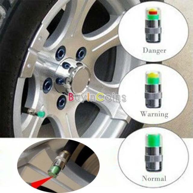 Car Cap Sensor Tire Pressure Monitor Valve Indicator 3 Color Alert Long life