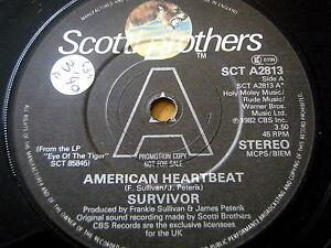 SURVIVOR-AMERICAN-HEARTBEAT-7-034-VINYL-PROMO