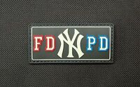 Fdnypd Gitd Pvc Patch Fdny Nypd York City Nyc Bravest Finest Emt Hook & Loop