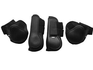 Tendon-amp-Fetlock-Boots-SET-OF-4-Horse-Jumping-Leg-Protection-Boots-FULL-COB