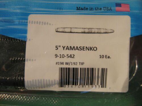 "20 Yamamoto Fishing Baits 5/"" Senko Worms 9-10-542 Watermelon Chartreuse Tip"