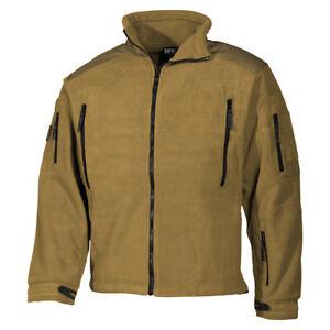 5fdabae4ffa6 MFH Heavy Strike Fleece Jacket Mens Hunting Camping Police Army Warm ...