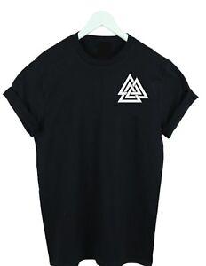 Odin-039-s-Knot-Viking-T-Shirt-Valknutr-The-Norse-t-shirt-tee-kids-amp-adult-s-xxxl