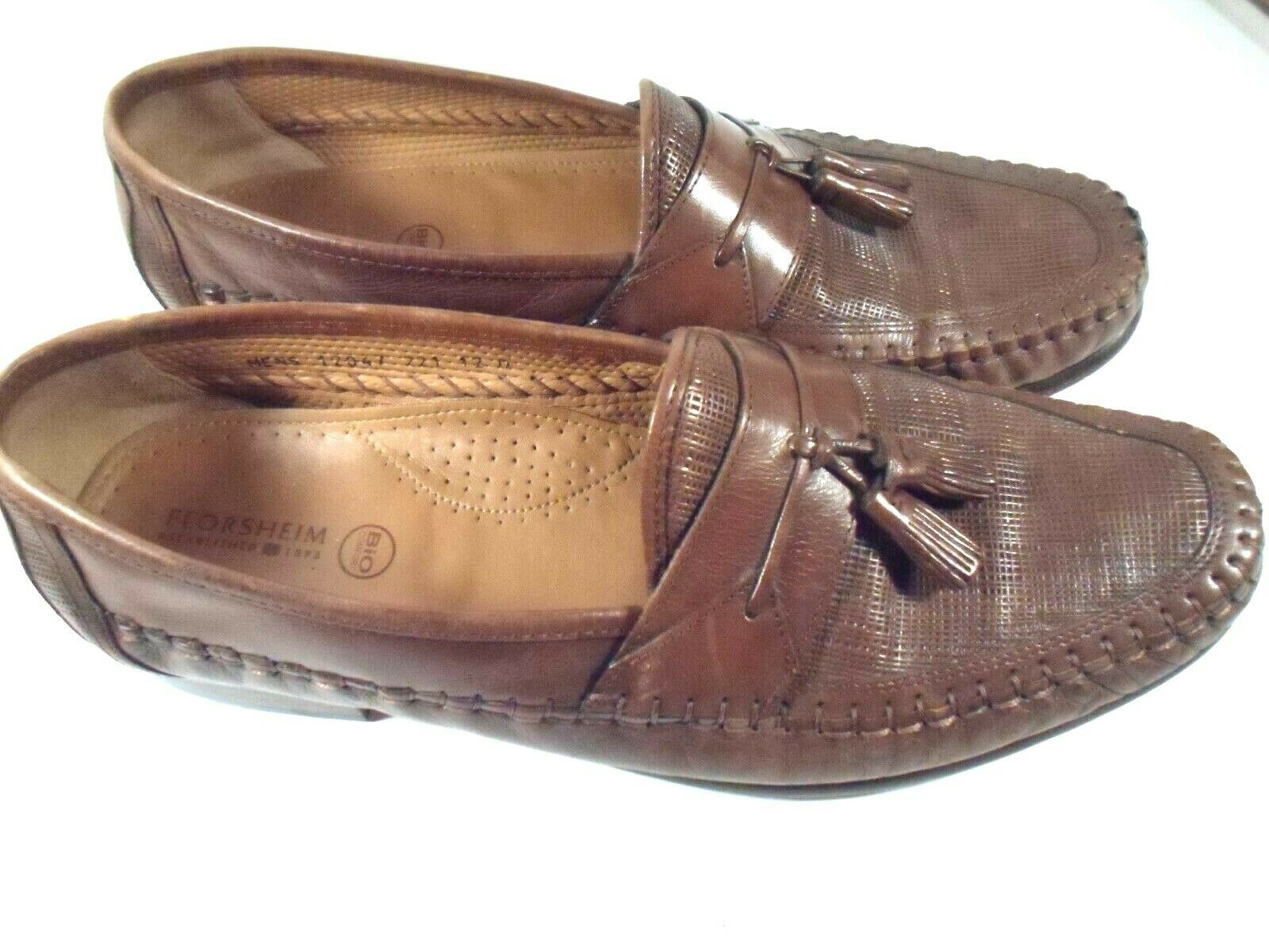 Florsheim bio comfort Sz 12 D Brown Leather Tassel Loafers