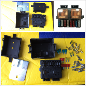 Universal 12v 2 Way Circuit Relay Fuse Box Holder Terminal Kits